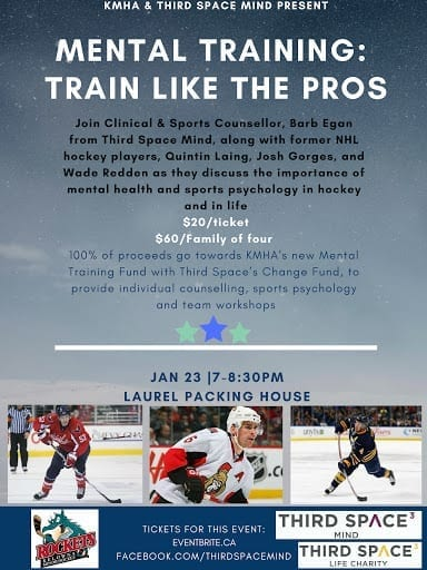 train-like-the-pros-mental-health-mental-training-mental-game-sports-psychology-event-hosted-by-third-space-charity-barb-egan-alive-counselling-wade-redden-josh-gorges-quintin-laing-kelowna-minor-hockey-british-columbia-bc-hockey-nhl-whl