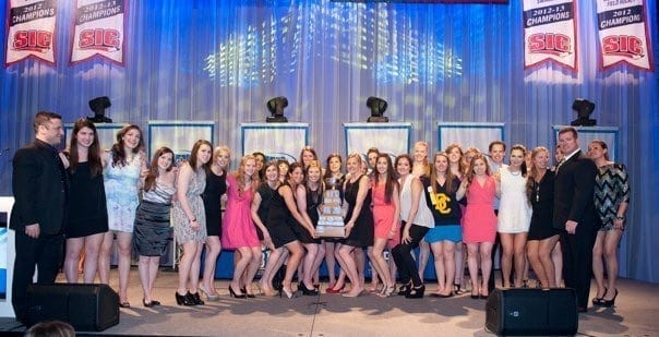 UBC-womens-hockey-team-wins-team-of-the-year-award-2013-CIS-USports-university-of-british-columbia-with-barb-bilko-egan